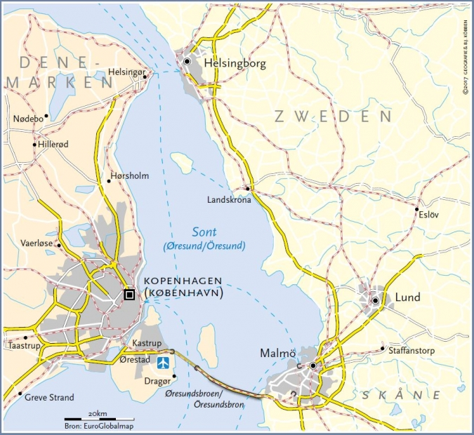 grens Denemarken - Zweden