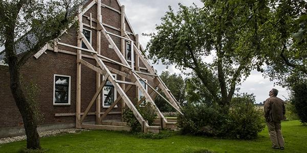 Aardbevingschade in Groningen